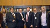 The minister for Immigration and Citizenship Mr. Chris Bowen with members of the GOCMV Immigration Committee